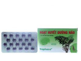 Hoạt Huyết Dưỡng Não Traphaco (hộp 1 vỉ x 20 viên bao đường)