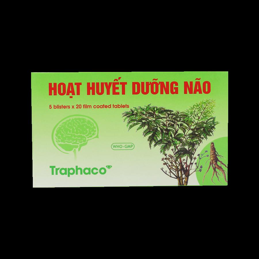 Hoạt Huyết Dưỡng Não Traphaco (hộp 5 vỉ x 20 viên bao phim)